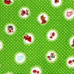 Grüner Stoff mit Muster
